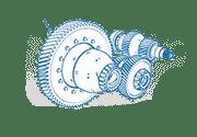 Multi speed transmission drawning